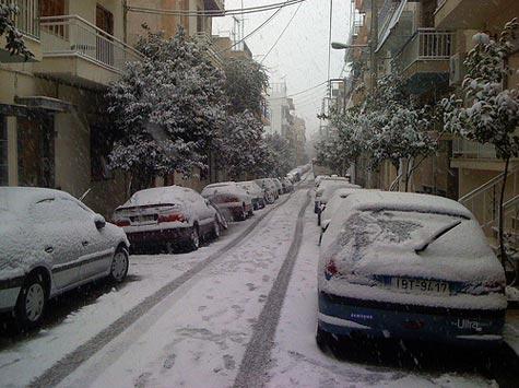 Χιόνια στον Πειραιά