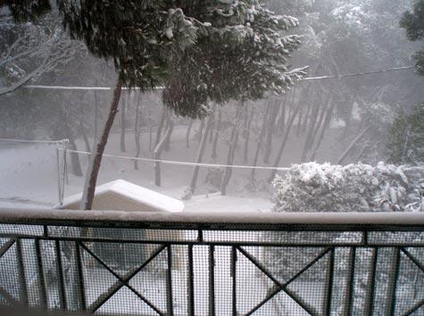 Χιόνια στους Θρακομακεδόνες