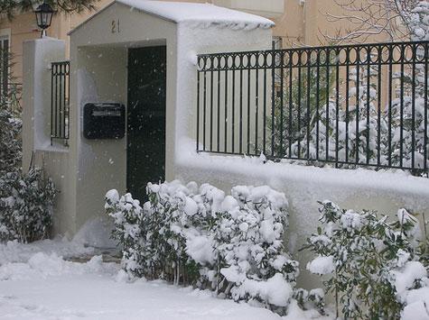 Χιόνια στην Κηφισιά