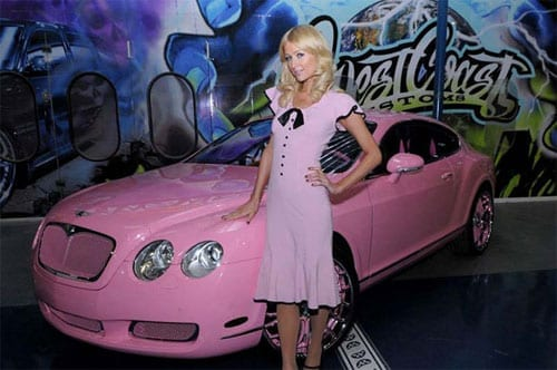 Paris Hilton pink Bentley Continental GT - 2