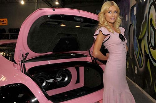 Paris Hilton pink Bentley Continental GT - 4