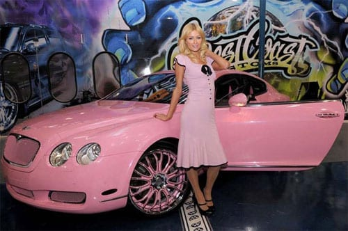 Paris Hilton pink Bentley Continental GT - 6