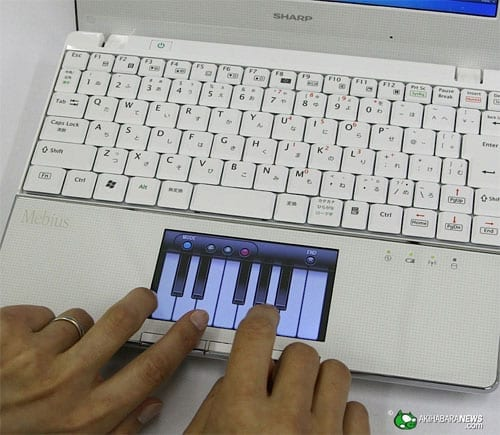 Netbook Sharp Mebius with LCD pad