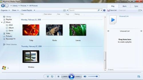 Windows 7 - Media Player
