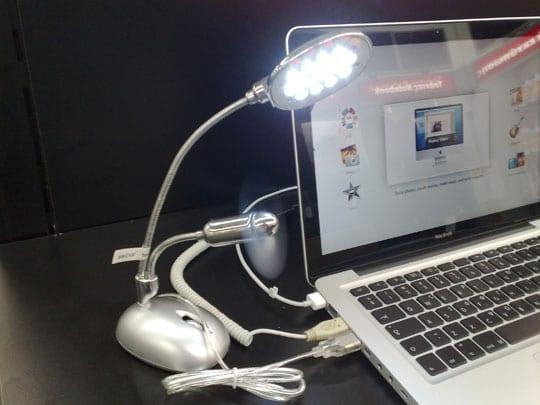 Φωτιστικό - Ανεμιστηράκι για laptop