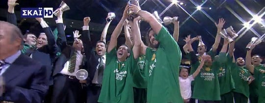 Panathinaikos Euroleague Champions 2009