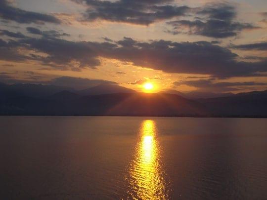 Ηλιοβασίλεμα από το Nafplia Palace