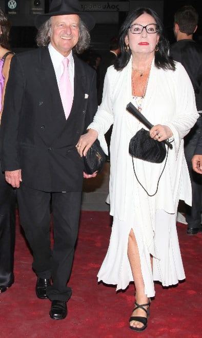 Νάνα Μούσχουρη με τον σύζυγό της