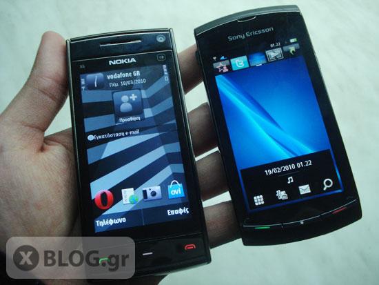 Nokia X6 vs Sony Ericsson Vivaz