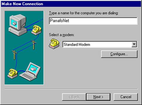 Panafonet Dial Up