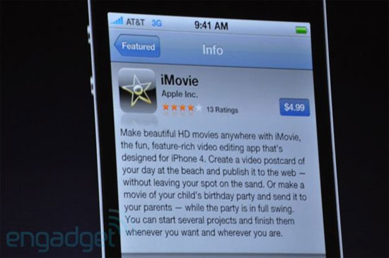 iMovie iPhone 4