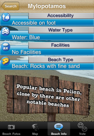 Beaches iPhone App