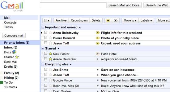 Gmail Priority Inbox