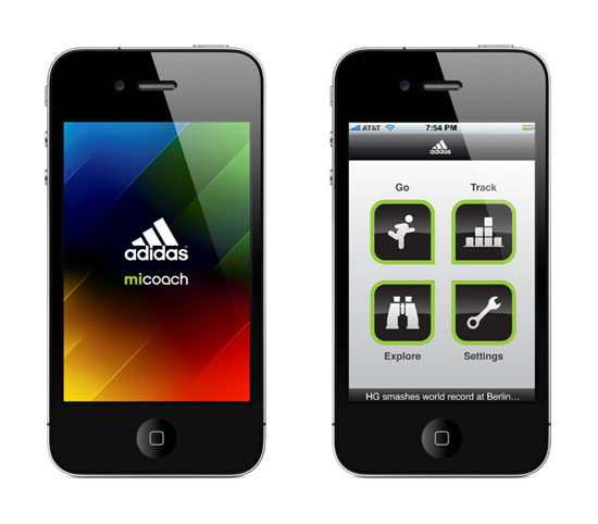 Adidas miCoach app
