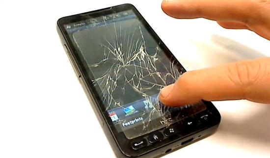 HTC HD2 με σπασμένη οθόνη