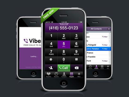 Viber Free Phone Calls iPhone App