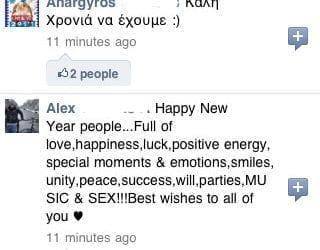 Πρωτοχρονιά 2011, Ευχές μέσω Facebook και Twitter