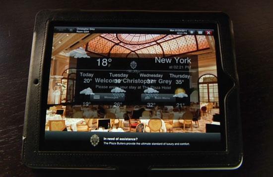 iPad στο Plaza Hotel της Νέας Υόρκης