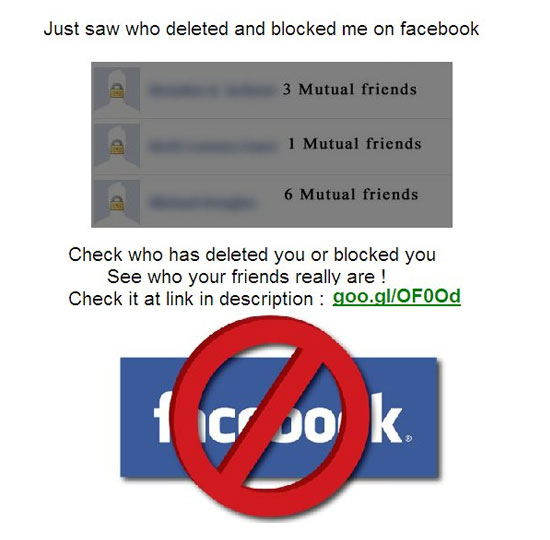 Just saw who deleted and blocked me on facebook