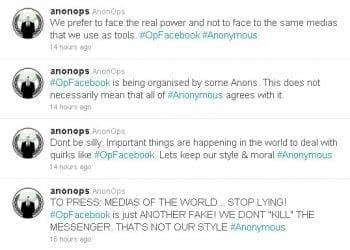 Οι Anonymous δεν θα επιτεθούν τελικά κατά του Facebook