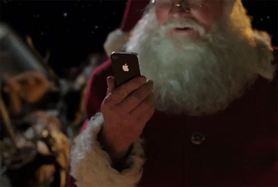 Ο Άγιος Βασίλης χρησιμοποιεί iPhone 4S και με τη βοήθεια της Siri παραδίδει τα δώρα!