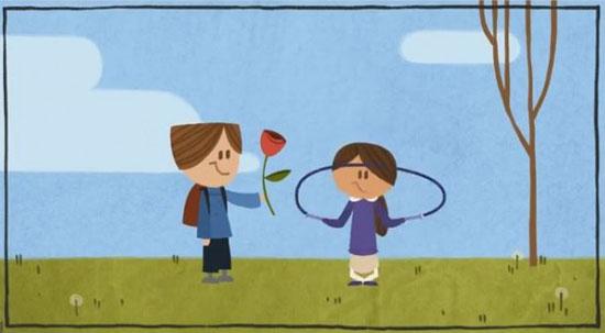 Το Google Doodle για την ημέρα του Αγίου Βαλεντίνου