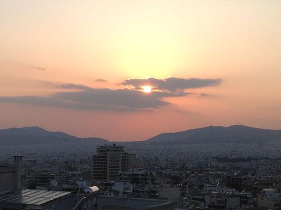 Δύση ηλίου, Φωτο από το νέο iPad