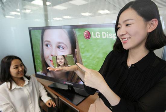 Η LG Display αναπτύσσει την πρώτη οθόνη αφής Full HD LCD για smartphone