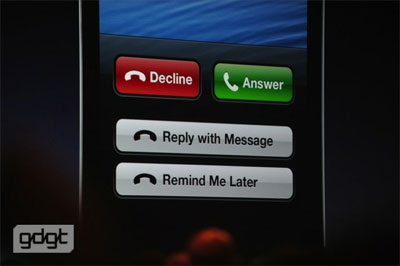 Apple iOS 6 - Call reminder