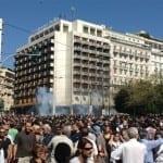 Φωτογραφίες από την διαδήλωση ενάντια στα νέα μέτρα