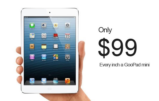 GooPad Mini, Κλώνος iPad Mini