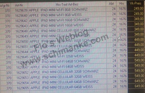 iPad Mini τιμή