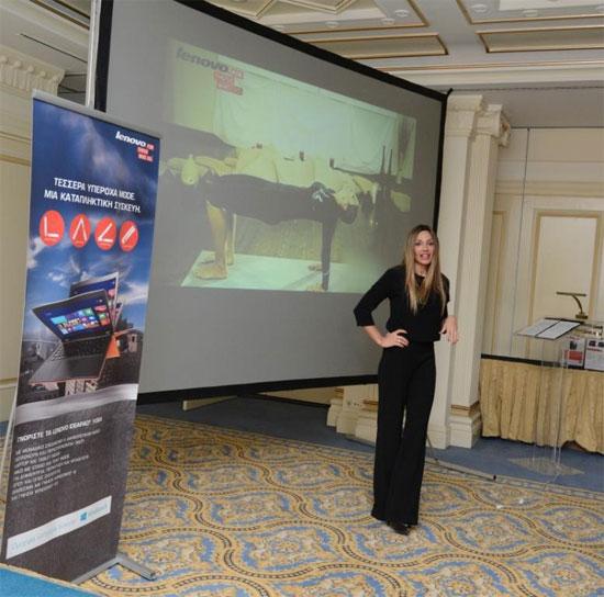 Ελένη Πετρουλάκη παρουσίαση Lenovo