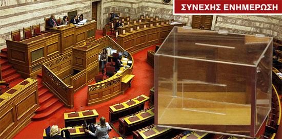 Συνεδρίαση στη Βουλή για την ψηφοφορία για τη Λίστα Λαγκάρντ