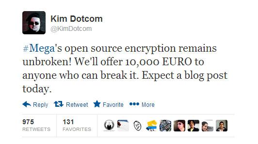 Tweet του Kim Dotcom