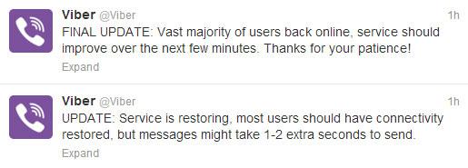 Viber αποκαταστάθηκε η λειτουργία