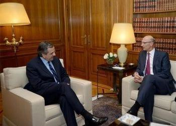 Συνάντηση πρωθυπουργού με τον νέο διευθύνοντα σύμβουλο της Deutsche Telekom