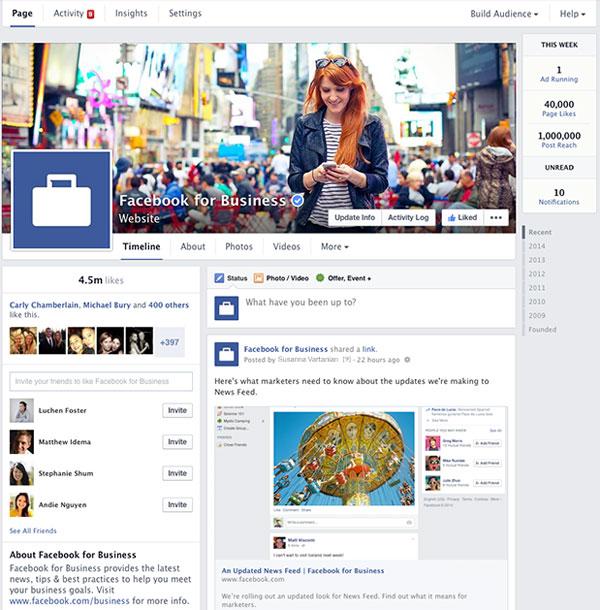 Facebook Pages νέα εμφάνιση