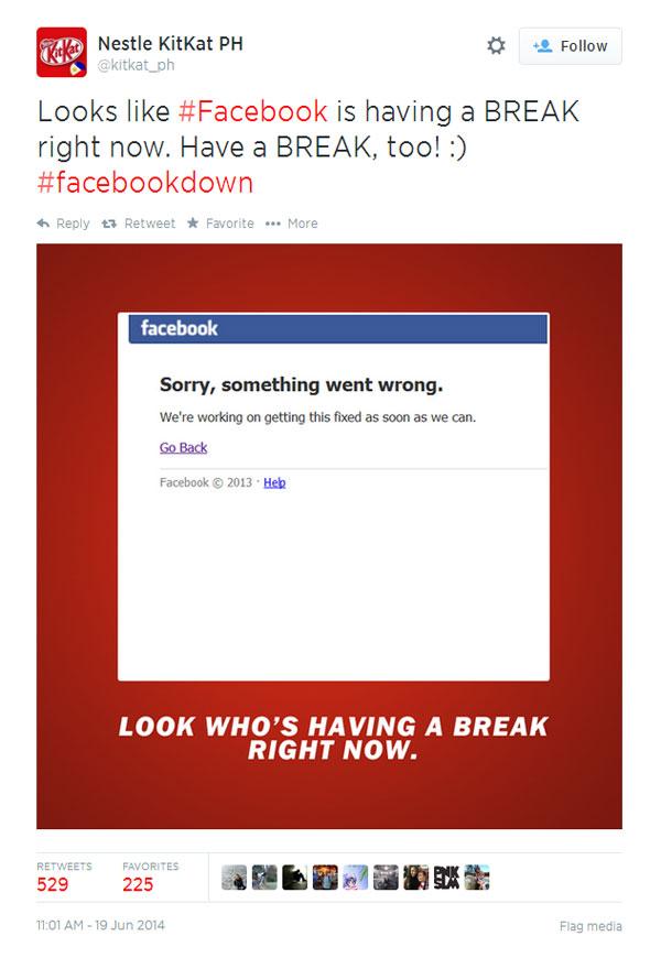 Nestle KitKat τρολάρει Facebook