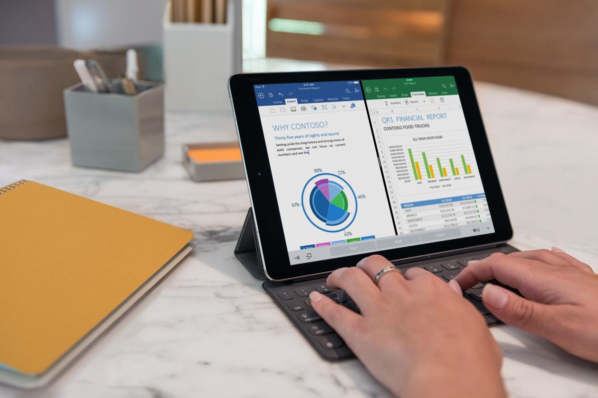 Apple iPad Pro 9.7 in office