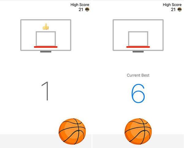 Facebook Messenger basket game