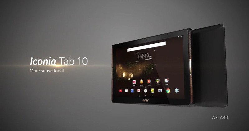 acer iconia tab 10 a3 a40 10 tablet. Black Bedroom Furniture Sets. Home Design Ideas