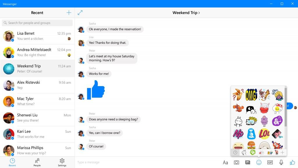 Messenger for Windows 10