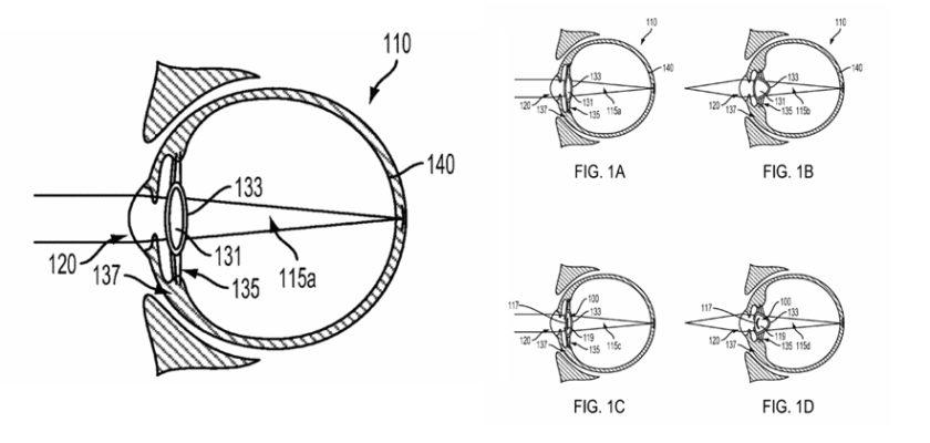 Google eye device patent