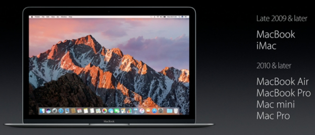 Apple macOS Sierra compatibility list