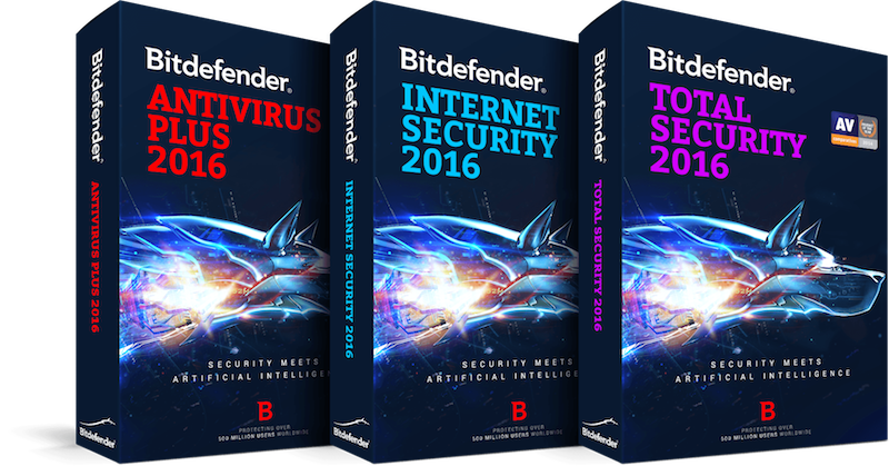 Bitdefender Antivirus Software boxes