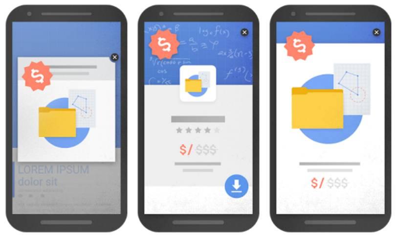 Google mobile pop-up