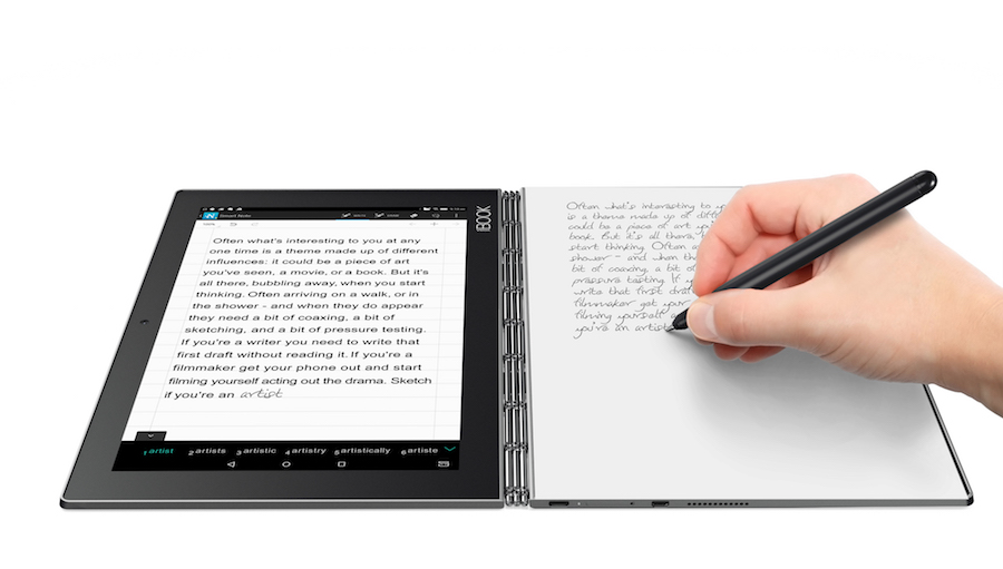 Lenovo Yoga Book paper