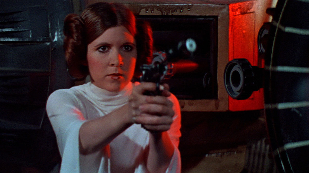 Carrie Fisher as Princess Leia (Star Wars)