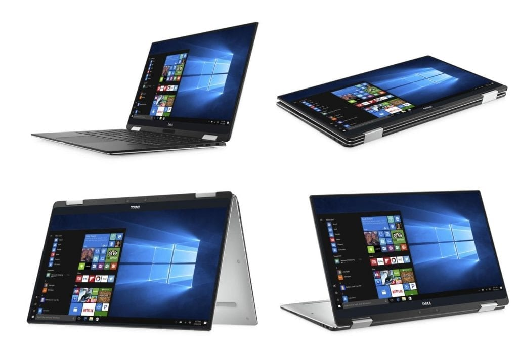 Dell XPS 13 2 in 1 convertible laptop modes
